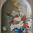FLOWERS IN A VASE 5 cross stitch pattern