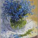 BLUE FLOWERS IN A VASE 2 cross stitch pattern