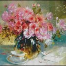 FLOWERS IN A VASE 7 cross stitch pattern