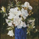 A VASE OF AZALEAS cross stitch pattern