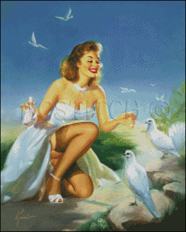 PIN UP 20 cross stitch pattern