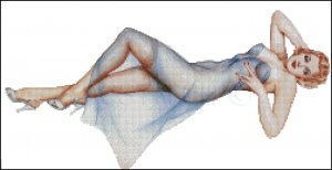PIN UP 36 cross stitch pattern
