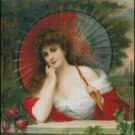 WOMAN PORTRAIT 12 cross stitch pattern