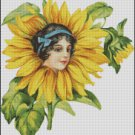 VINTAGE FLOWER FAIRY cross stitch pattern