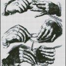 HANDS cross stitch pattern
