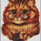 Knitting Kitty cross stitch pattern