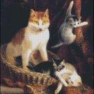 CAT FAMILY cross stitch pattern