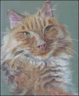 CAT 2 cross stitch pattern