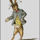 THE MARCH HARE, Alice in Wonderland, cross stitch pattern