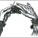 KNITTING HANDS cross stitch pattern No.1