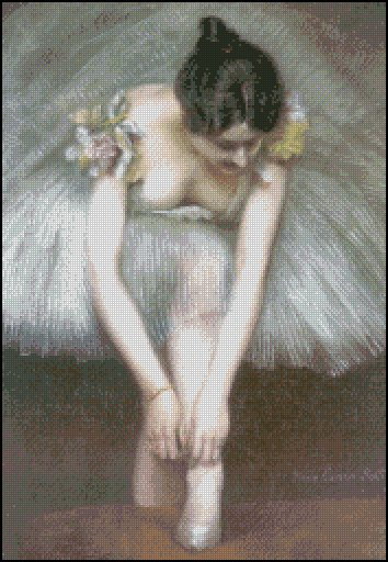 BEFORE THE BALLET cross stitch pattern