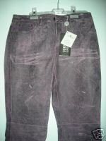 NEW Versace Distressed Leather Jeans - EU 41/US 27