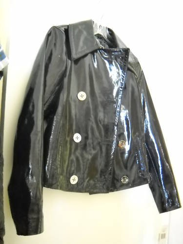 NEW Ralph Lauren Women's Patent Leather Peacoat - S