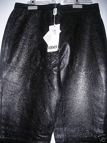 NEW Versace Distressed Leather Pants - EUR 40/US 26