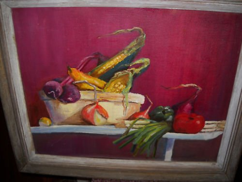 ORIGINAL Framed Still Life Composition Painting
