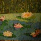 ORIGINAL Oil on Canvas Floral Landscape Painting