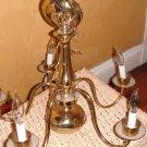 Brass 5-Arm Chandelier