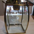 VINTAGE Brass and Etched Glass Hanging Ceiling Fixture
