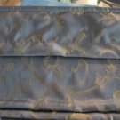 "NEW Blue w/ Gold Brocade Roman Shade - 31.25""w x 65""l"