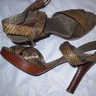 NEW Scorah Pattullo Designer Snakeskin Sandals -  EU 35/US 5