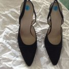 NEW Giorgio Armani Black Satin Slingbacks - EU 36.5/US 6