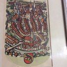 VINTAGE Paul Boesch Colored Woodcut Print w/ Mark