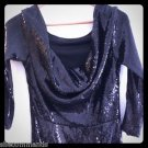 NEW LA PERLA Navy Blue Sequin Pailette Dress - 10