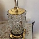 """VERY GOOD CONDITION Crystal Bedroom Lamp - 13"""""""