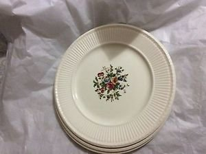 VINTAGE Set of 4 WEDGWOOD Edme Conway Pattern Dinner Plates - 10.25""