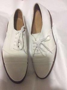 Ralph Lauren Team USA Olympic Flat White Nubuck Oxford Shoes - W10/M8