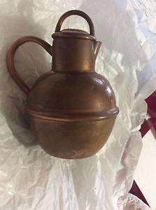 "VINTAGE Colonial VIrginia Solid Copper Teapot w/ Dents - 6""T x 5""W"