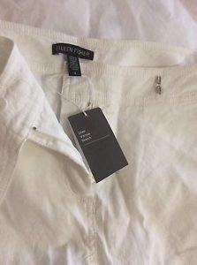 NEW Eileen Fisher White Straight Trouser Pants - 4