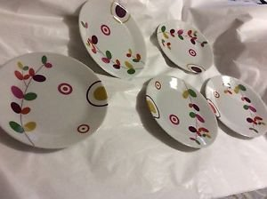 NEW Set of 5 Philippe Deshoulieres Lilly Canape Plates Limoges France