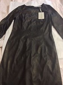 NEW KOOKAI Black Leatherette Dress - EU 40