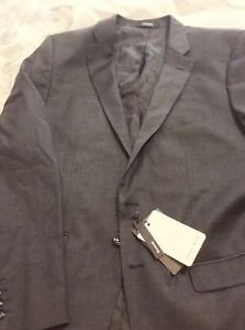 NEW Zara Basic Collection  Mens Gray Lined Two-Button Blazer - 42