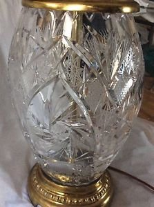 """ANTIQUE Exquisite Quality Lead Crystal w/ Intricate Cutwork - 15"""""""
