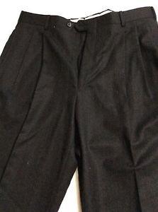 NEW Nino Cerruti Men's Double Pleat 100% Wool Dress Pants - 38