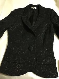EXCELLENT CONDITION Anne Fontaine Black Evening Jacket - FR 38/US 6
