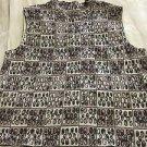 NEW St. John Marie Print Sleeveless Knit Top - L