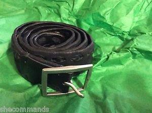 NEW John Varvatos Collection Men's Black Leather Belt - 36