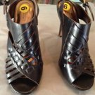 NEW Coach  Women's Bessy Vachetta Leather Black Sandals - 9