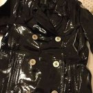 NEW Ralph Lauren Women's Navy Blue Patent Leather Peacoat - S