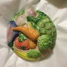 """EXC. CONDITION Fitz & Floyd Carrot Top Woven Basket Covered Dish - 7-3/4"""""""