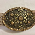 EXCELLENT CONDITION Brambilla Leather Belt with Bejeweled Buckle - L
