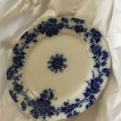 ANTIQUE Bridgwood & Son Porcelaine Opaque Flow Blue Plate - 9.5""