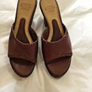 EXCELLENT CONDITION Circa by Joan & David Luxe Brown Leather & Cork Wedges - 6.5