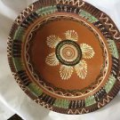 Large Redware Hand-Decorated Pottery Bowl - 11.5""