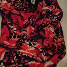 NWT Talbots Terry Cloth Bold Print Tunic Shirt Beach Cover Up - M