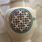 "EXCELLENT CONDITION Italian Pottery Wine Jug Marked ""In Vino Veritas"""