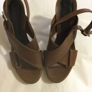EXCELLENT CONDITION Marni Brown Crossover Leather Sandals - EU38.5/US 8-8.5